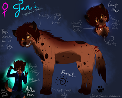 Jamie the Hyena .:Ref. sheet:. by ScottishRedWolf