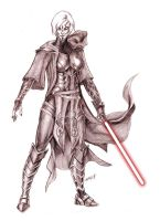 Sketch Commish- SITH by DavidFernandezArt