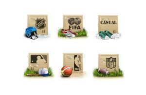 Icons for sport shop by i-love-icons