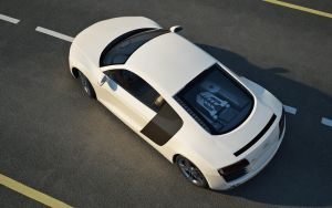 Audi R8 from the top by 3D-Brainx