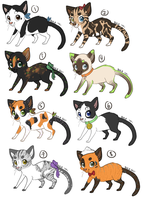 Cat Adoptables - OPEN by naida4