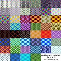 46 Diamond Patterns for GIMP by bkh1914
