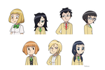 Unpopular Girls (and Tomoki) by ToonYoungster
