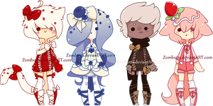Cupcake Themed Adoptables Batch 10: CLOSED by Zombutts