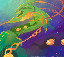 mega rayquaza by chimikii