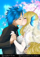 |Private Collab| AkiHika wedding  w/OokamiDia by Furrashu-no-Hikari