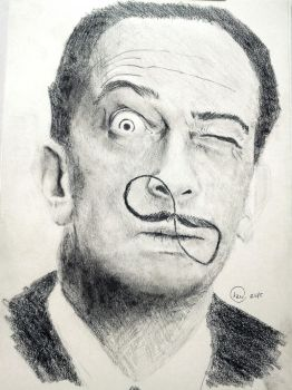Portrait of Salvador Dali by redkazuo