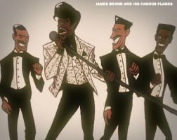 James Brown and His Famous Flames by JFXArt