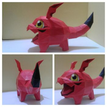 Papercraft Digimon Gigimon by rafaelbrito2