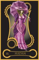Steampunk tarot of Empress by flamarahalvorsen