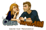 Superman'n'Clemi Badge by Pample