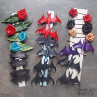 Leather Hair Clips and Pins by Beadmask