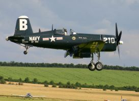 corsair coming in 3 duxford by Sceptre63
