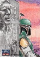 Star Wars G7 - Boba Fett Sketch Art Card 1 by DenaeFrazierStudios