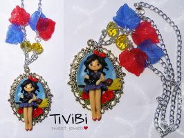 Kiki's delivery service necklace OOAK by tivibi