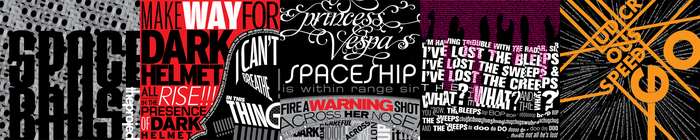 Spaceballs the Typography by crzisme