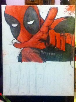 Deadpool painting by ZoraSteam