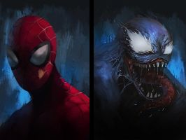 Spiderman X Venom by soyfreak