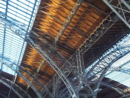 Construction Leipzig Main Station by Sabbelbina