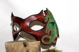 Dragon venitian, leather mask by akinra-workshop
