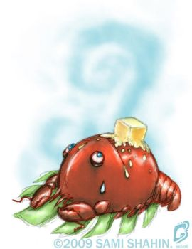 Lobster and Butter by SamiShahin-Art