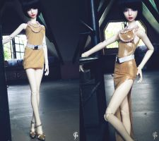 2 In 1 Gold Dress by Ylden
