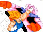Vegeta vs Buu by nial09