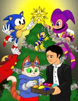 Christmas 2009 card art by Gryphon-HB