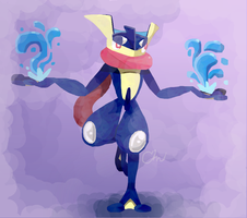 Greninja Makes a Splash! by FabledHeights