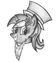 Luck of the Lyrish- Lyra Sketch, St. Patrick's Day by AncientOwl