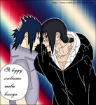 Sasuke and Itachi from the Naruto manga chapter590 by Miss-Namikaze