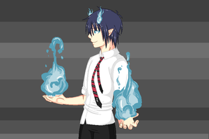The Blue Exorcist by MirrorIllusion