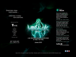 Miku-UK Project - Live in Scotland, Web design. by MacroBlock