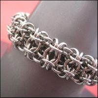 Gridlock Chainmaille Bracelet by redpandachainmail