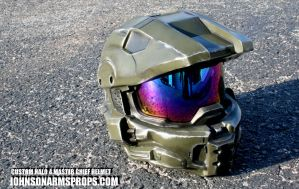 Master Chief Helmet - Mark VI version by JohnsonArms