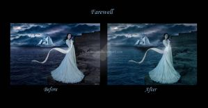 Farewell before and after by maiarcita