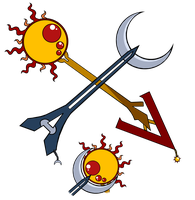 Day And Night Keyblades by P-ChanAndP-Kun