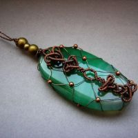 green agate pendant by Lethe007