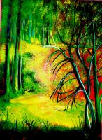 Spring in the forest by HelaLe