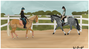 Dressage party by Aithair