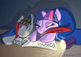 All Night Study Group by bibliodragon