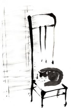 Cat on a chair by MeiMei-KaiTen