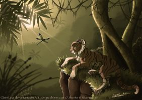 Tiger in jungle by ClaireLyxa
