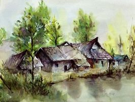 scenery watercolor by young920