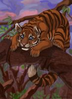 Dont fall little tiger by Miu3