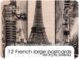 12 French Postcards by mellowmint