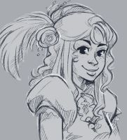 Little Sparrow by painted-bees