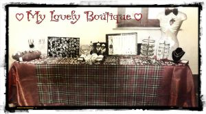 exhibition market set by TheLovelyBoutique