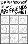 Draw in your friends Art Style meme by VickyViolet