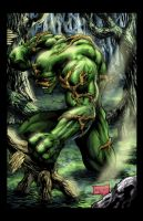 Swamp Thing Colored by hanzozuken
